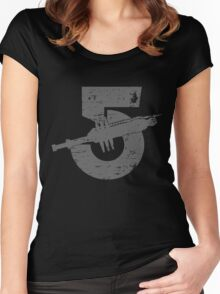 Babylon 5 Vintage (Grey) Women's Fitted Scoop T-Shirt