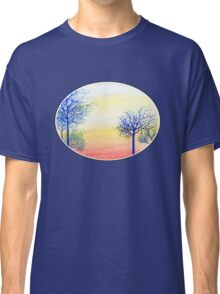 Sunset with Blue Trees Classic T-Shirt