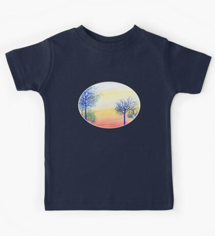 Sunset with Blue Trees Kids Tee