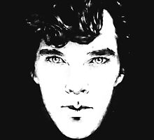 Sherlock B/W Womens Fitted T-Shirt