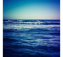 waves ver.blue Photographic Print