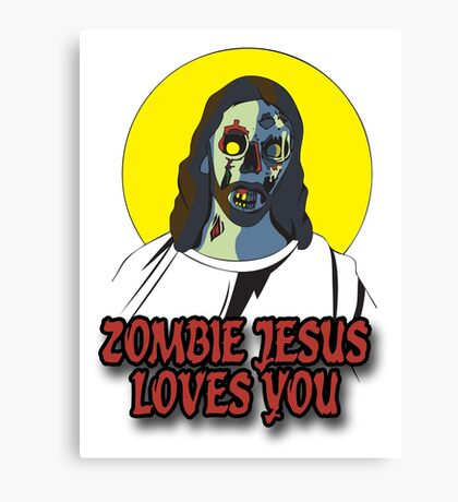 Zombie Jesus Loves You Canvas Print