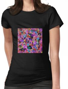 Galaxy Graffiti Womens Fitted T-Shirt