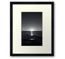sunset ver.b&w Framed Print