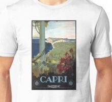 1927 Capri Italian Travel Poster Unisex T-Shirt