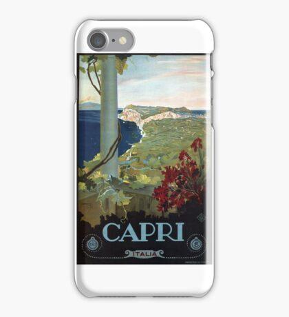 1927 Capri Italian Travel Poster iPhone Case/Skin