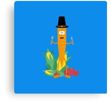 Thanksgiving Carrot with Vegetables Canvas Print