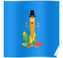 Thanksgiving Carrot with Vegetables Poster