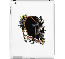 Skeleton Coffin Flower Traditional Tattoo Design iPad Case/Skin