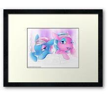 Spa Ponies Framed Print