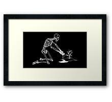 Sad Skeleton Framed Print