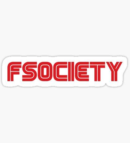 Fsociety (Mr. Robot) Sticker