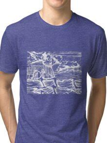 Lighthouse landscape Tri-blend T-Shirt