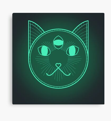 Dystopic Sci-Fi Kitty Canvas Print
