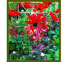 FLOWER GARDEN; With Plastic Psychedelic Flowers Photographic Print