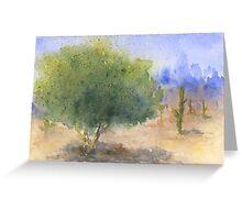 Watercolor Arizona Palo Verde Tree Greeting Card