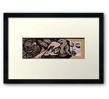 Breathing Smoke & Serpents: Lux Edo, Eat the Light Framed Print
