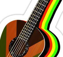 Rastafarian Guitar Sticker