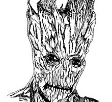 Groot Illustration by Jakecolling