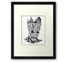 Groot Illustration Framed Print