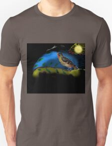 Bird in moonlight Unisex T-Shirt