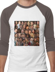 Parks and Recreation Collage Men's Baseball ¾ T-Shirt
