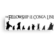 Fellowship of the Conga Line Metal Print