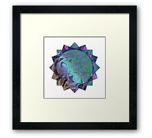 Triangling Squares Framed Print
