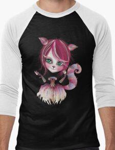 Cheshire Kitty Men's Baseball ¾ T-Shirt