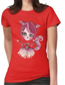 Cheshire Kitty Womens Fitted T-Shirt