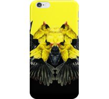 Birds black and yellow iPhone Case/Skin