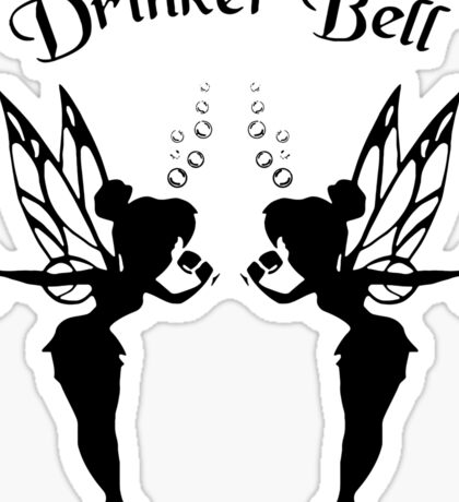 2 Drinker Bell Dark Sticker