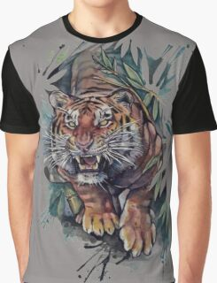 tigers drawings colored TSHIRT Graphic T-Shirt