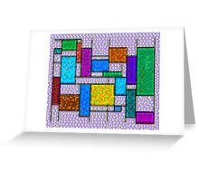 Mondrian Pixelate Greeting Card