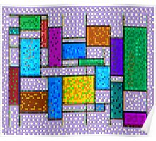 Mondrian Pixelate Poster