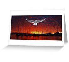 Scarlet Ocean Sunset. Original exclusive photo art. Greeting Card