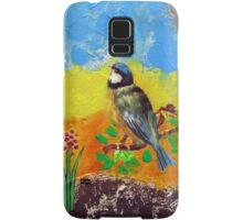 Beautiful bird on colorful background Samsung Galaxy Case/Skin