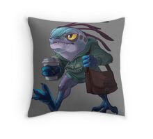 Art Student Murloc Throw Pillow