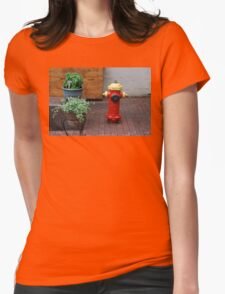 Quebec Urban Still Life Womens Fitted T-Shirt