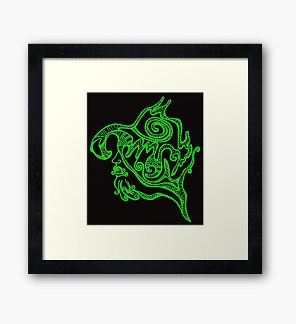 Psychedelic musketeer  Framed Print