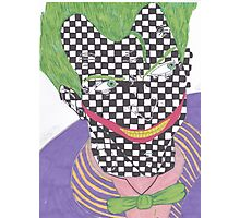 The Joker- Arkham City/ Checkered Photographic Print