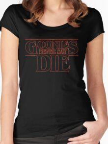 Goonies Never Say Die Women's Fitted Scoop T-Shirt