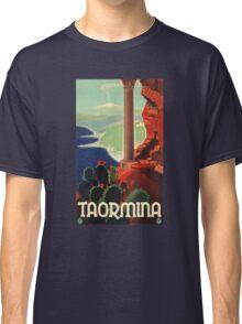 1933 Taormina Italy Travel Poster Classic T-Shirt