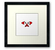 Simple the clown Framed Print