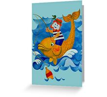 Fishing with Moby Dick Greeting Card