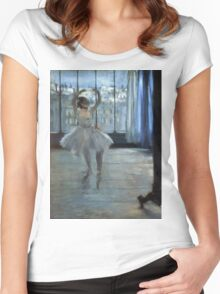 Edgar Degas - Dancer In Front Of A Window Women's Fitted Scoop T-Shirt