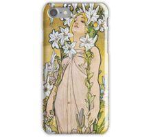 Alphonse Mucha - Le Lyslily iPhone Case/Skin