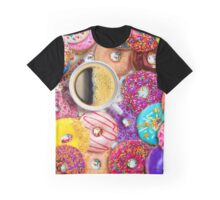Donuts & Coffee Graphic T-Shirt