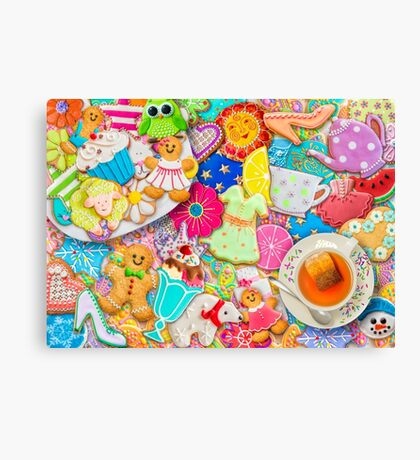 Tea and Cookies Canvas Print