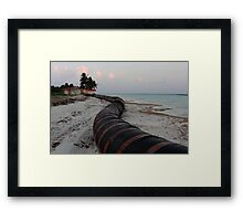 Sanding pipes Framed Print